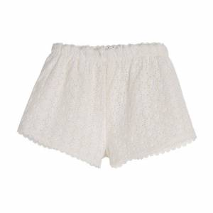 Maison Me Roxy Short, Daisy Eyelet  - White - Size: 2y