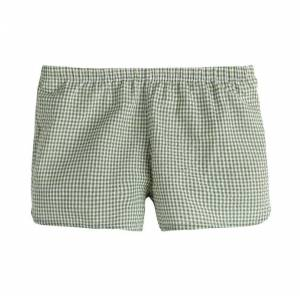 Maison Me Catherine Gingham Short, Sage Green  - Green - Size: 3y