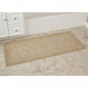 Mohawk Rug & Textiles Wellington Nylon Bath Rug Runner, 2' x 9', Sand