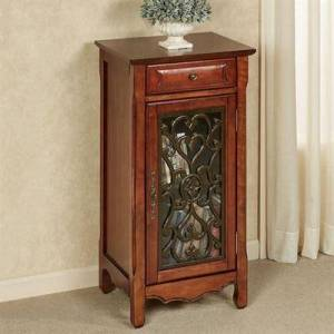 Touch of Class Harper Storage Cabinet Natural Cherry , Natural Cherry