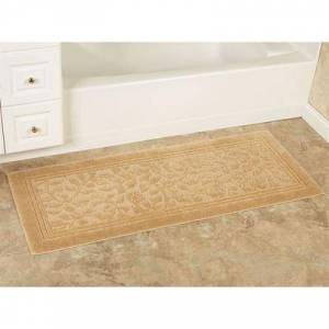 Mohawk Rug & Textiles Wellington Nylon Bath Rug Runner, 2' x 9', Gold