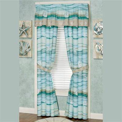Touch of Class Seaview II Tailored Valance Light Blue 72 x 18, 72 x 18, Light Blue