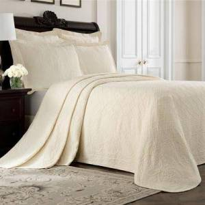 Royal Heritage Home Llc Richmond Bedspread, Queen, White