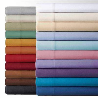 Shavel Bedding Micro Flannel(R) Sheet Set, Twin, White
