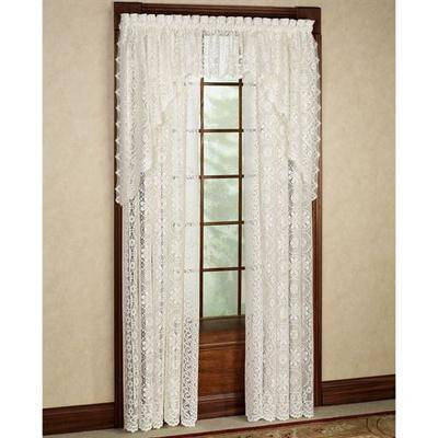 Lorraine Home Fashions Hopewell Tailored Panel 58 x 84, 58 x 84, White