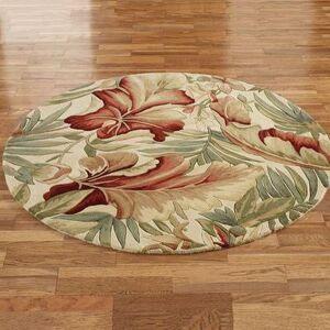 """Kas Oriental Rugs Inc """"Paradise Foliage Round Rug Ivory, 5'6"""""""" Round, Ivory"""""""