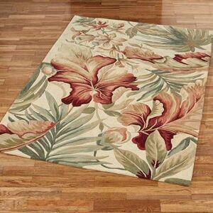 "Kas Oriental Rugs Inc ""Paradise Foliage Rectangle Rug Ivory, 5'3"""" x 8'3"""", Ivory"""