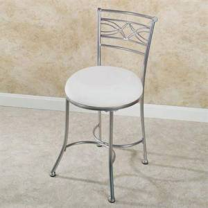 Hillsdale Furniture Llc Durand Vanity Chair Satin Nickel , Satin Nickel