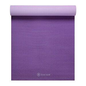 Gaiam 2-Color Reversible Yoga Mat (6mm)  - purple