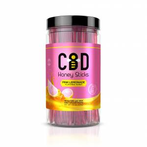 CBD Infused Honey Sticks - Pink Lemonade Flavor - 1000mg (100 Pack)