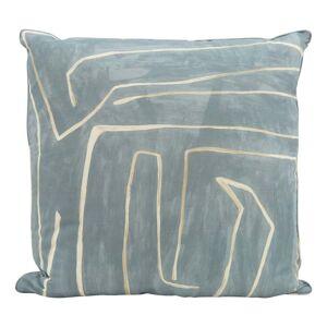 Maze Blue Pillow
