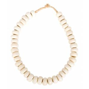 African White Bead Necklace