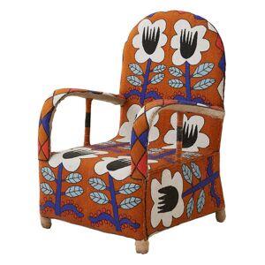 African Beaded Chair - Tribal Orange