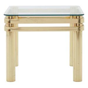 Vintage Brass End Table