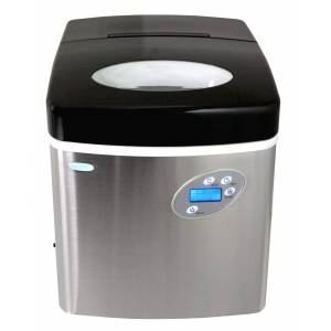 NewAir Blemished Newair 50lbs. Portable Ice Maker, Stainless Steel