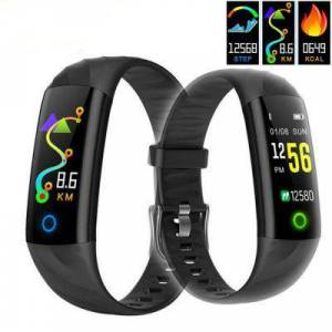 Gearbest S5 Heart Rate Blood Pressure Blood Gas Monitoring IP68 Waterproof Smart Bracelet  - Multi-D