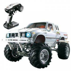 Gearbest HG P407 1/10 2.4G 4WD Rally Rc Car for TOYATO Metal 4X4 Pickup Truck Rock Crawler RTR
