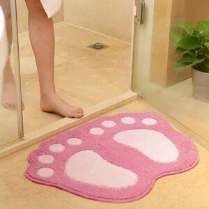 Footprint Shape Bathroom Rug Mat