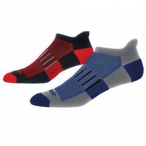 Brooks Ghost Midweight Two-Pack Sock Marathon Red 741543067
