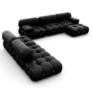 1 Mario Bellini Camaleonda Sofa / Combination 007 - Aniline Leather-Black