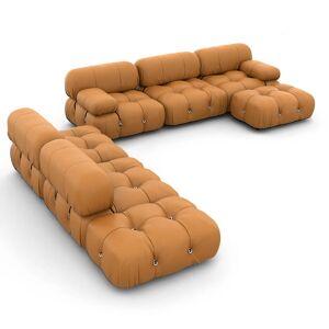 1 Mario Bellini Camaleonda Sofa / Combination 007 - Aniline Leather-Camel