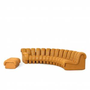 1 DS 600 Modular Sofa / Combination B - Aniline Leather-Twilight Blue