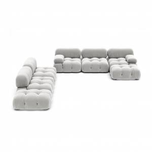 1 Mario Bellini Camaleonda Sofa / Combination 007 - Vintage Leather-Granite