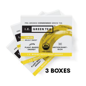 Amica Tea LLC Lemon Green Tea 3 Box Bundle (8 servings per box)