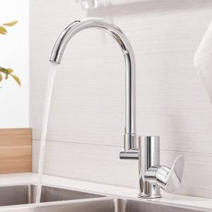 Kitchen Faucets Kitchen Faucet Digital Kitchen Faucet Water Power Sink Mixer Brass Chrome Plated Temperate Display Faucet Smart Tap LAD-16588