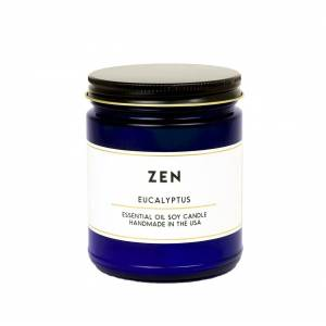 ACDC Candle Co Zen Eucalyptus Essential Oil Aromatherapy Candle