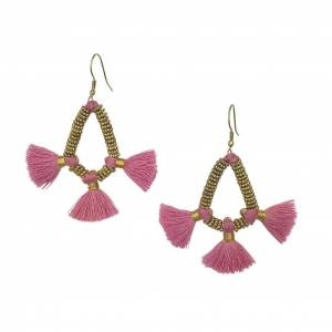 Slate & Salt Nira Fringe Earrings  - multicolor - Size: One Size