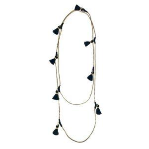 Slate & Salt Ananya Tassel Necklace  - multicolor - Size: One Size