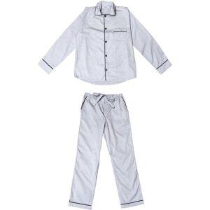 Phriya Men's Classic Gray Long Pajama Set  - multicolor - Size: One Size