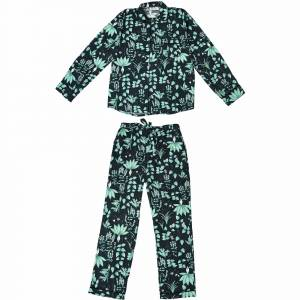 Phriya Men's Navy Blue Circe's Garden Long Pajama Set  - multicolor - Size: One Size