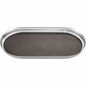 Manhattan Stainless Steel & Leather Tray
