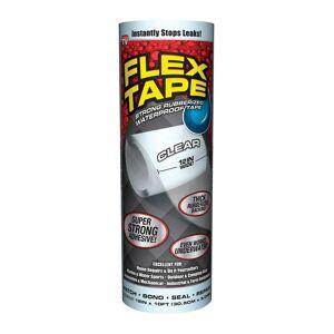 """Flex Tape Tfsclrr1210 As Seen On Tv Waterproof Repair Tape, Clear, 12"""" X 10'"""