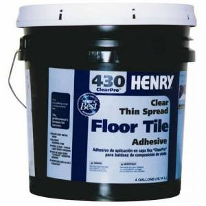 Henry 430-069 Thin Spread Tile Adhesive 4 Gallon, Clear