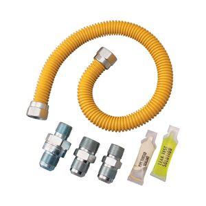 "Watts 0222524 Smart Sense Gas Appliance Connector Kit, Stainless Steel, 1/2"" X 36"""