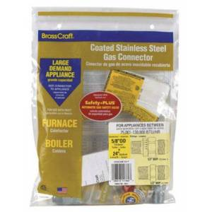 """Brasscraft Cssc44e-24p Coated Stainless Steel Gas Connector - 24"""""""