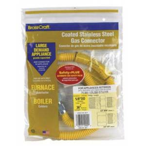 """Brasscraft Cssc12e-36p Coated Stainless Steel Gas Connector 36"""""""