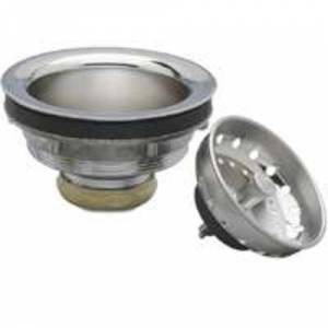 "Plumb Pak Pp5435 Sink Basket Strainer Assembly, 3-1/2"", Chrome Plated"