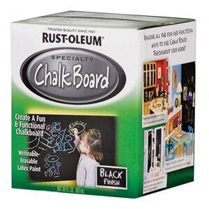 Rust-oleum 206540 Brush-on Chaulkboard Paint, Black, Quart