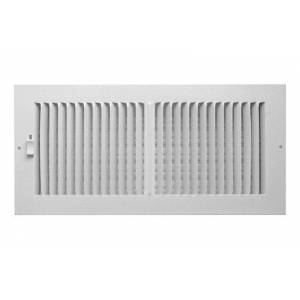 """Truaire Ca102m 14x06 2-way Wall & Ceiling Register, 14"""" X 6"""", White"""