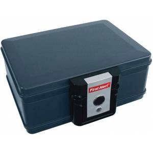First Alert 2013f Fire And Water Chest, 0.17 Cu. Ft, Gray