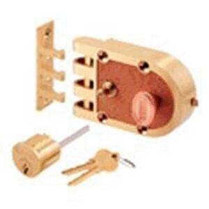 PRiME line Se14327 Single Segal Cylinder Flat Strike Brushed Brass