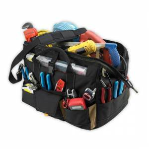 """Clc 1535 18"""" Tool Bag With Top-side Plastic Parts Tray, 37 Pockets"""