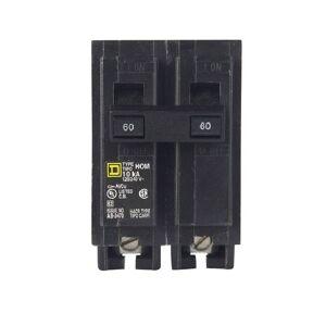"Square D Hom260cp Homeline Double Pole Circuit Breaker, 60 Amp, 2"""