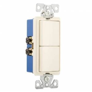 Cooper Wiring 7728la-sp Two Single-pole Combination Switch, 15 Amp