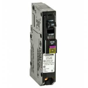 Square D Qo120pdfc Qo Single-pole Plug-on Neutral Dual Function Circuit Breaker, 20 Amp