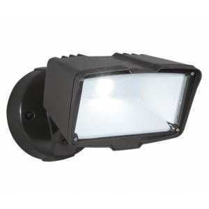 All-pro Fsl203tb Hardwired Led Flood Light With Switch Control, Bronze